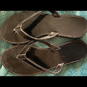 USED Coach flip flops